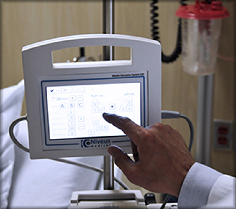 The user interface enables quick and easy treatment customization for each individual patient.